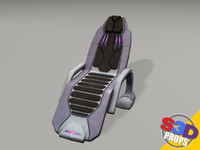 sci-fi recliner chair 3d model