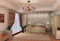 3d model of bedroom classic-style