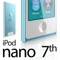 apple ipod nano 7th 3d model