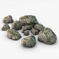 rocks elements 3d max