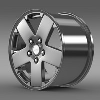 jeep wrangler rim 3d 3ds