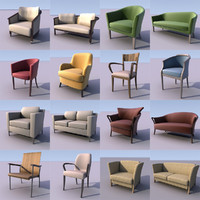 furniture armchairs sofas 3d max