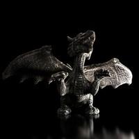 dragon stone statue 3d model