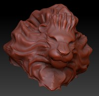 obj animal lion head