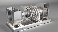 3ds max gas turbine 32 ladoga