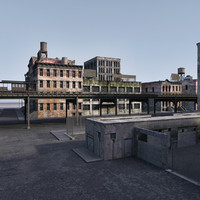 street scene new york 3d max