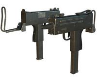 3d model mac10 gun