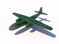 arado ar 234 bomber 3d model