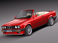 3ds max bmw e30 316i convertible