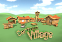 x small cartoonish village