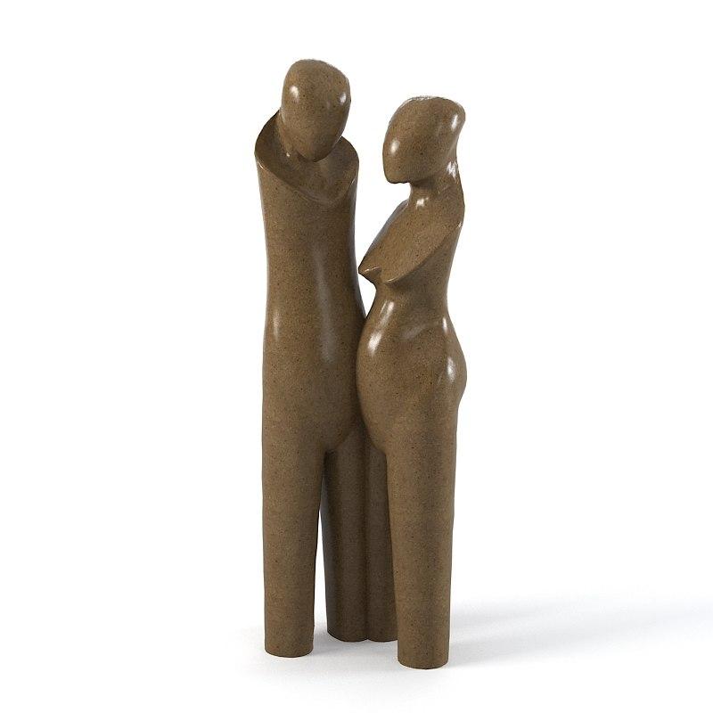 Christopher guy The Lovers  64-0277  Sculpture statue man women modern art contemporary tall big0001.jpg