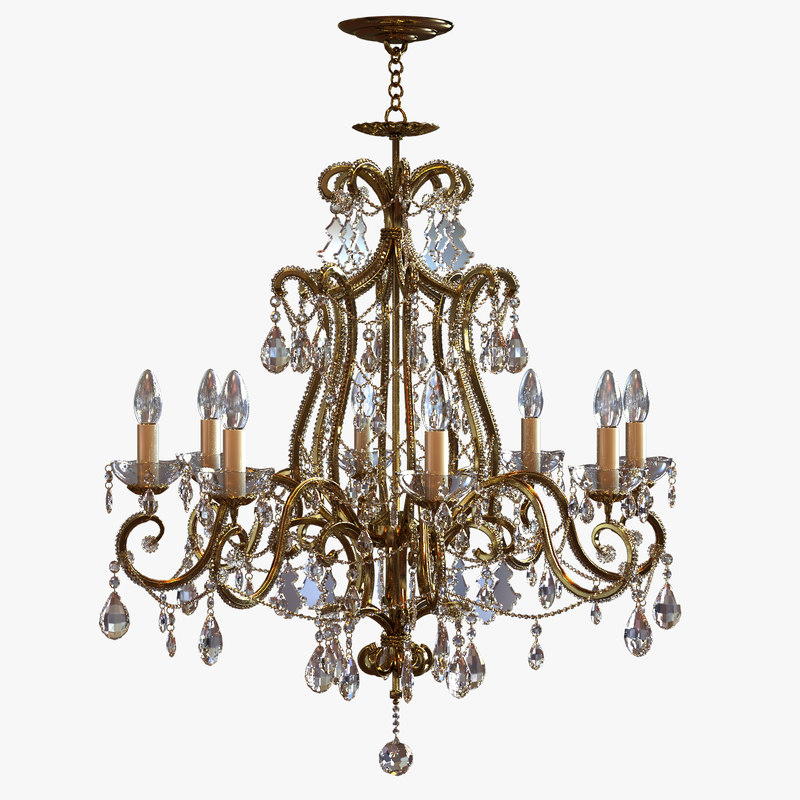 Classical Chandelier with Swarovski Pendants.jpg
