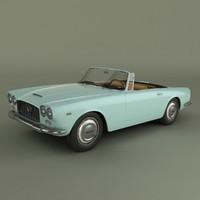 lancia flaminia gt convertible 3d model