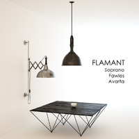 3d model flamant hanging lamp soprano