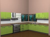 3d kitchen model