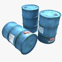 Clean Oil Barrels