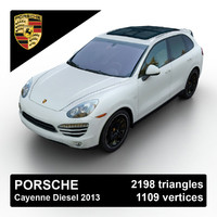 3d 2013 porsche cayenne diesel model