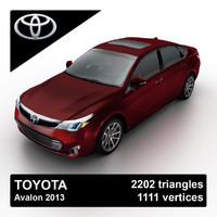 2013 toyota avalon sedan 3d model