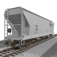Train Car: Grain Hopper: C4D Format