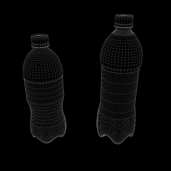 plastic soda pop bottles 3ds - Plastic Pop Bottles... by mvcomputers