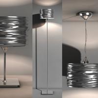 3d model aqua cil lamps -
