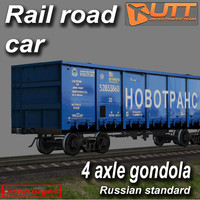 rail road car 3d max
