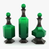 3dsmax emerald decanter