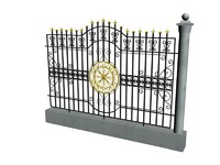 3d decorative metal fence