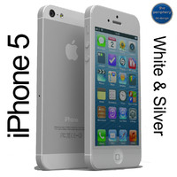 apple iphone 5 white 3d max