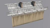 3d model old roof