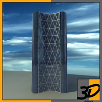 3d model bow office building