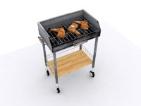 3d barbecue grill bbq
