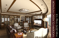 3d interior modern classic