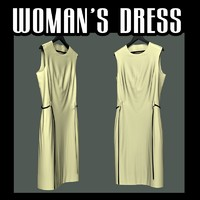 woman s dress 3d blend