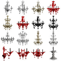 chandeliers sylcom soffio lamp 3d model
