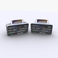3d model modern shelf