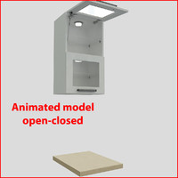 kitchen furnitures 45 cm 3d model