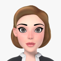 3d model of cartoon woman