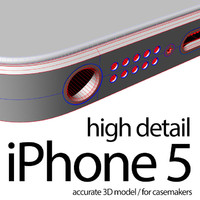 apple iphone 5 cases 3d model
