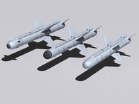 air-to-surface missiles kh-38me family 3d max
