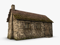 old cottage 3d model