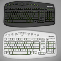 3d model wireless pc keyboard