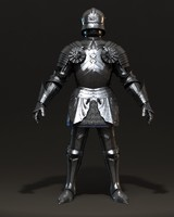 3d model heavy armored knight armour