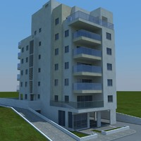 3d model of buildings 1 3