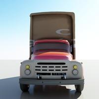 3d model truck toon
