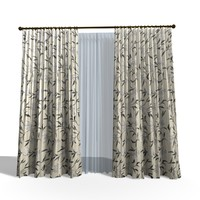 3ds modern curtain 23