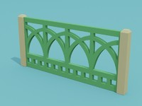 3d fence model
