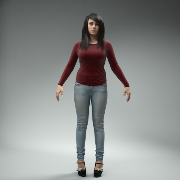3d body human - CWom0019-HD2-CS... by axyzdesign
