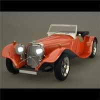 obj retro sports car
