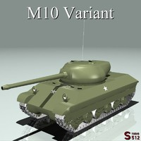 3d wwii tank destroyer m10 model